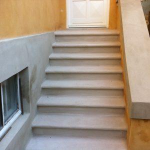 Trappe: Renovation og kalkning af trappe